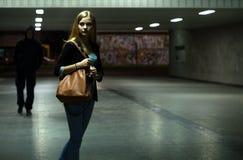 Danger dans le passage souterrain Photographie stock libre de droits