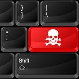 Danger de bouton d'ordinateur illustration de vecteur