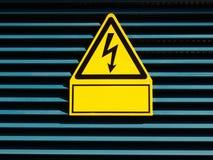 Danger de décharge électrique de la mort Image libre de droits