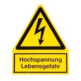 Danger de décharge électrique de la mort Photographie stock