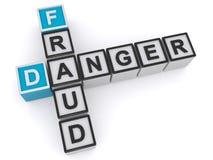 Danger de fraude illustration stock