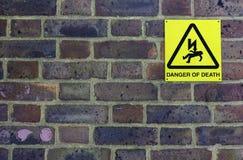 Danger de la mort Photo libre de droits