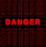 Danger de mot Photographie stock