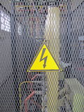 Danger de signal d'attention d'Advisign électrique Image libre de droits