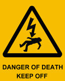 Danger of Death. Sign Stock Photo