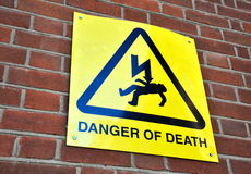 Danger of death Stock Images