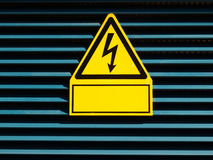 Danger of death Electric shock Royalty Free Stock Image