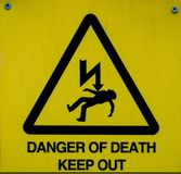Danger of Death sign, warning sign. stock photos