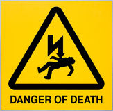 Danger of Death Sign Royalty Free Stock Photography