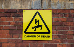 Danger of Death Sign Stock Photos