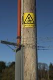 Danger of Death Sign Stock Images