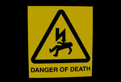 DANGER OF DEATH sign Royalty Free Stock Photos