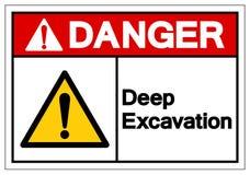 Danger Deep Excavation Symbol Sign, Vector Illustration, Isolate On White Background Label. EPS10 royalty free illustration