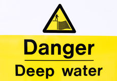 Danger Deep Water Royalty Free Stock Image
