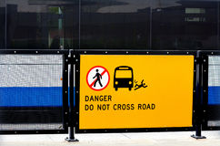 Danger do not cross road Royalty Free Stock Images