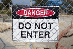 Danger do not enter sign Stock Images