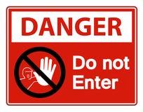 Free Danger Do Not Enter Symbol Sign Isolate On White Background,Vector Illustration Stock Photo - 149032070