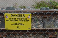Danger Do Not Trespass Teken Royalty-vrije Stock Afbeelding