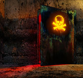 Danger door Royalty Free Stock Photography