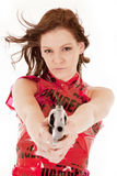 Danger dress gun serious Stock Photos