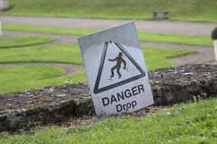 Danger Drop Sign Stock Photography