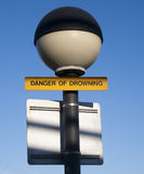 Danger of Drowning Sign Stock Photos