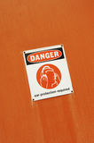 Danger - Ear Protection Required Stock Photos