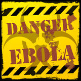 Danger ebola Royalty Free Stock Photo