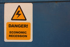 Danger. Economic recession Royalty Free Stock Photo