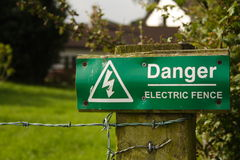 Danger Electric Fence Royalty Free Stock Photography