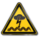 Danger electric shock from lightning and thunderstorms Stock Image