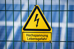 Danger Electrical Hazard High Voltage Sign Royalty Free Stock Photo