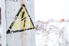 Danger Electrical Hazard High Voltage Sign Stock Photography