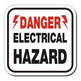Danger electrical hazard sign Royalty Free Stock Images
