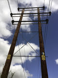 Danger Electricity Pylon Ringwood Hampshire Stock Photography