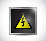Danger electricity sign button Stock Images