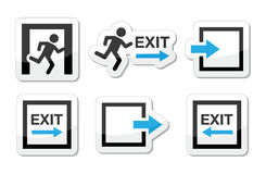 Emergency exit icons  set Royalty Free Stock Photos