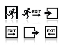 Emergency exit icons  set Royalty Free Stock Photo