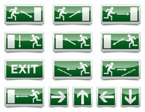 Danger exit warning sign Royalty Free Stock Images
