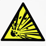 Danger of the explosion Stock Image
