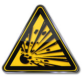 Danger explosion Stock Photography