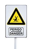 Danger of fall sign Royalty Free Stock Images