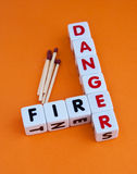 Danger fire Royalty Free Stock Images