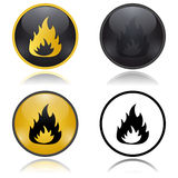 Danger Fire Risk warning signs. Vector illustration. Danger Fire Risk warning signs Stock Photos