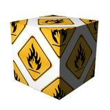 Danger flammable cube Stock Image