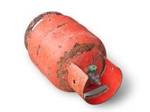 Danger gas bottle Royalty Free Stock Photo