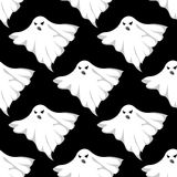 Danger ghosts seamless pattern Stock Photo