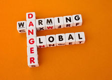 Danger global warming Stock Image
