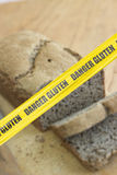 Danger Gluten Cordon tape Royalty Free Stock Images