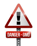 Danger gmo warning road sign illustration design Royalty Free Stock Image